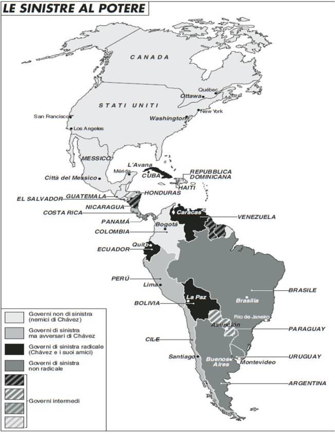 America Latina - Le sinistre al potere
