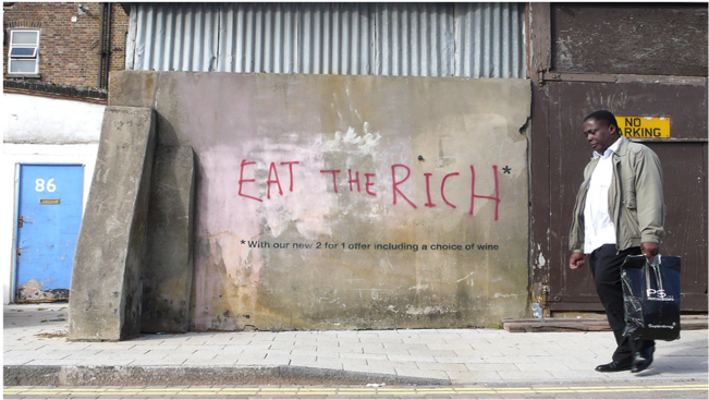 Eat the rich - Bansky - London 2009